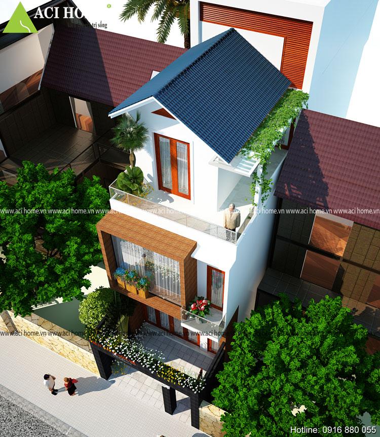 Ấn tượng thiết kế nhà phố 3 tầng