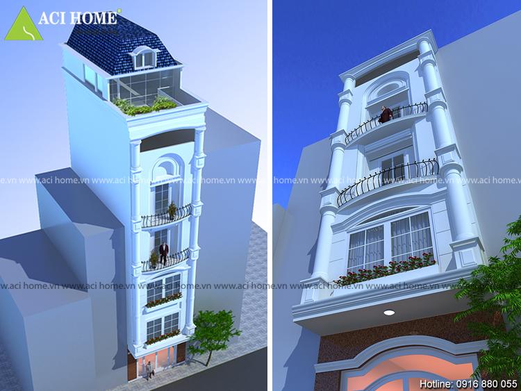 Độc đáo với thiết kế nhà phố 5 tầng