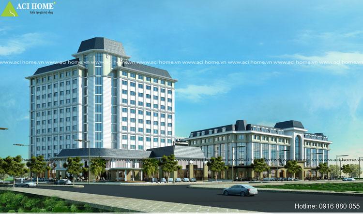 thiết kế khách sạn và trung tâm thương mại
