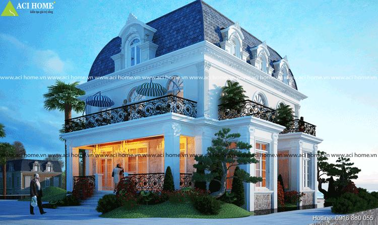 Thiết kế biệt thự kiểu Pháp.
