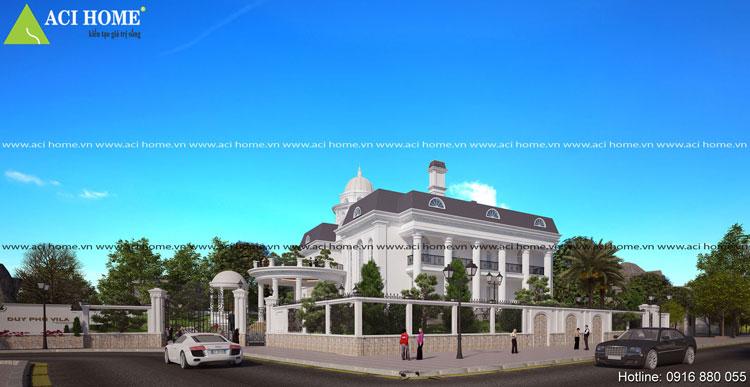 Thiết kế biệt thự kiểu Pháp đẹp mãn nhãn.