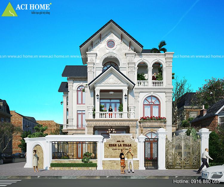 Mãu thiết kế kiến trúc cải tạo đẹp phong cách Pháp
