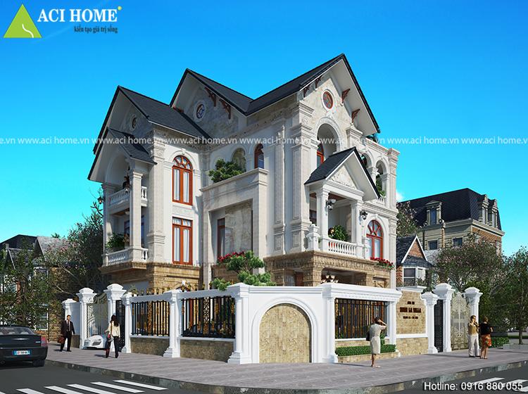 Mẫu kiến trúc cải tạo biệt thự Xuân La