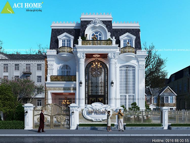 Mẫu thiết kế biệt thự kiểu Pháp 3 tầng sang trọng nhất hiện nay.