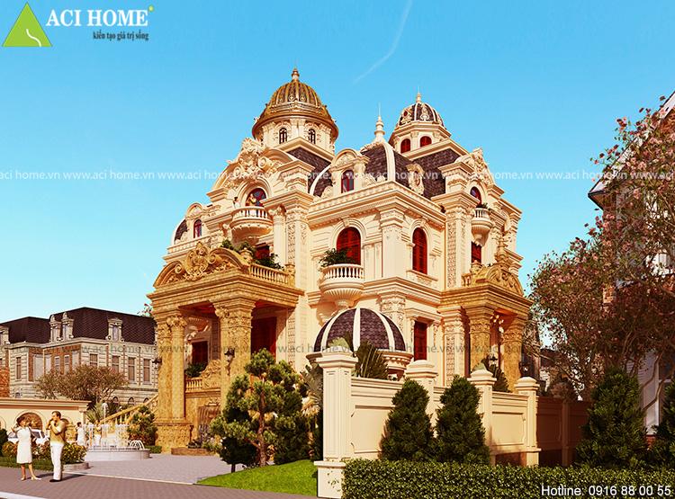 Mẫu thiết kế biệt thự kiểu Pháp đẹp.