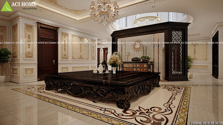 Thiết kế nội thất biệt thự kiểu Pháp -công trình 2,5 tầng tại Pleiku-View  11