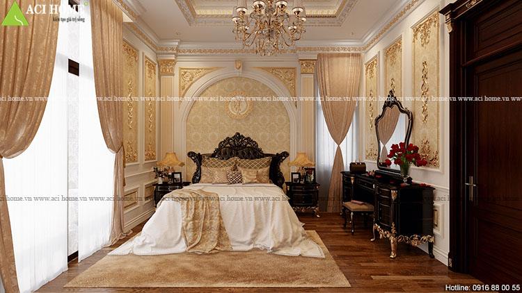 Thiết kế nội thất biệt thự kiểu Pháp -công trình 2,5 tầng tại Pleiku-View  12