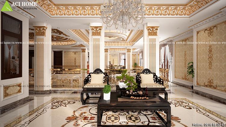 Thiết kế nội thất biệt thự kiểu Pháp -công trình 2,5 tầng tại Pleiku-View  5