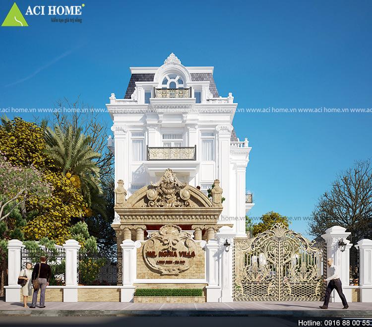 Cải tạo biệt thự trong khu đô thị Việt Hưng theo kiến trúc Pháp sang trọng - View 3