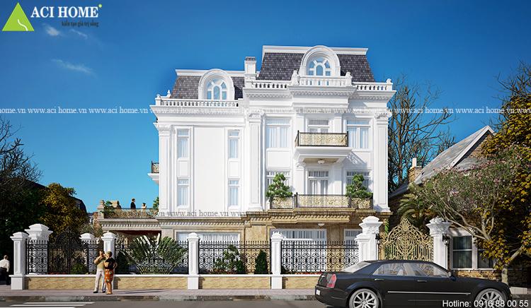 Cải tạo biệt thự trong khu đô thị Việt Hưng theo kiến trúc Pháp sang trọng - View 4