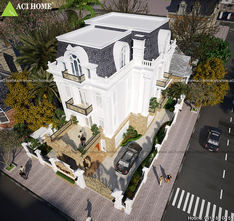 Cải tạo biệt thự trong khu đô thị Việt Hưng theo kiến trúc Pháp sang trọng - View 6