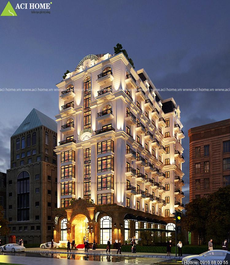thiết kế khách sạn với không gian như ý.