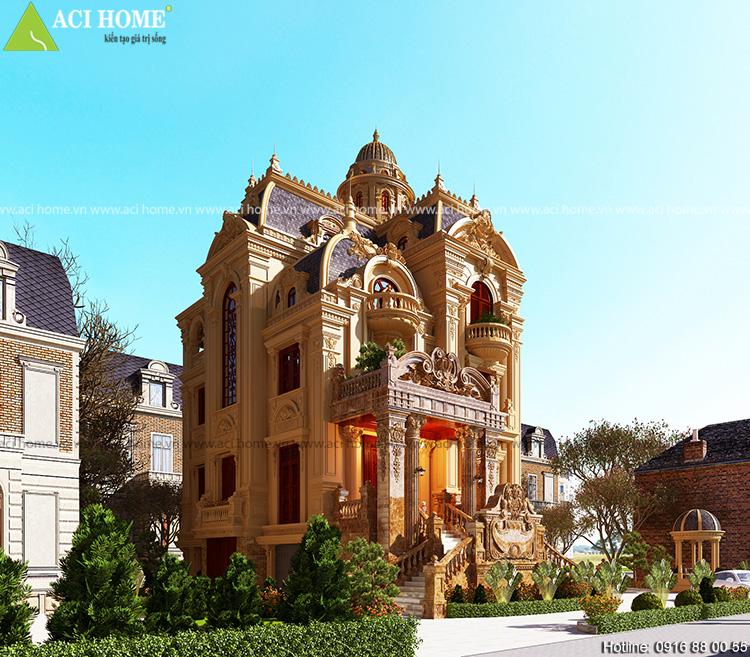 Thiết kế biệt thự Pháp đẹp nhất tại Biên Hòa.
