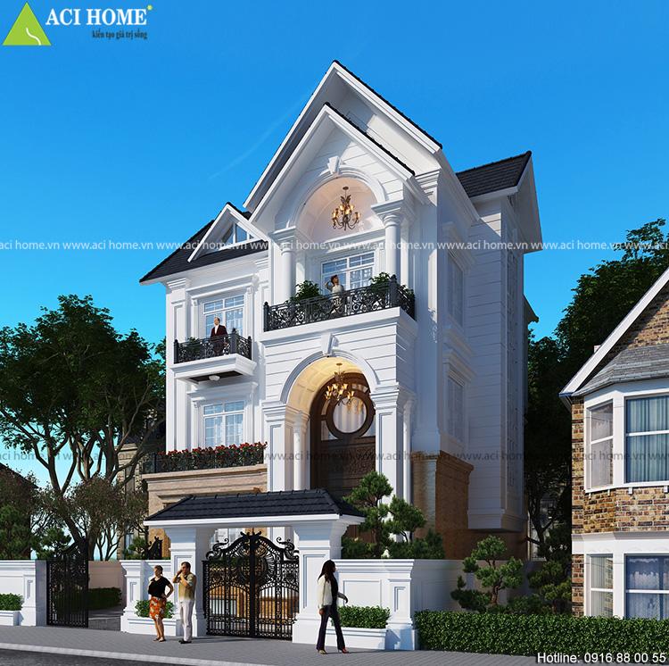 Thiết kế biệt thự tân cổ điển tại Hà Tĩnh