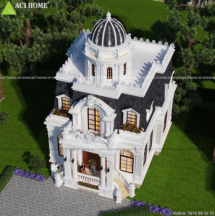 Thiết kế biệt thự kiểu Pháp sang trọng