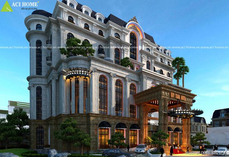 Thiết kế khách sạn kiểu Pháp 4 sao tại Cửa Lò-Nghệ An ( Quý Toàn Hotel)