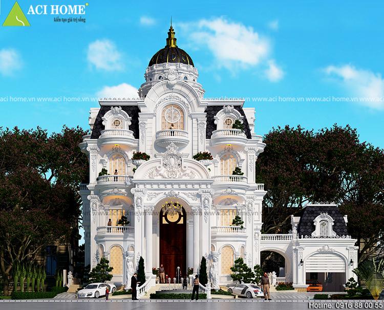 Thiết kế biệt thự kiểu Pháp tại Sóc Trăng - Ảnh 1