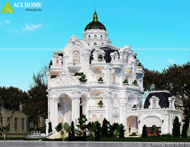 Thiết kế biệt thự kiểu Pháp tại Sóc Trăng - Ảnh 3