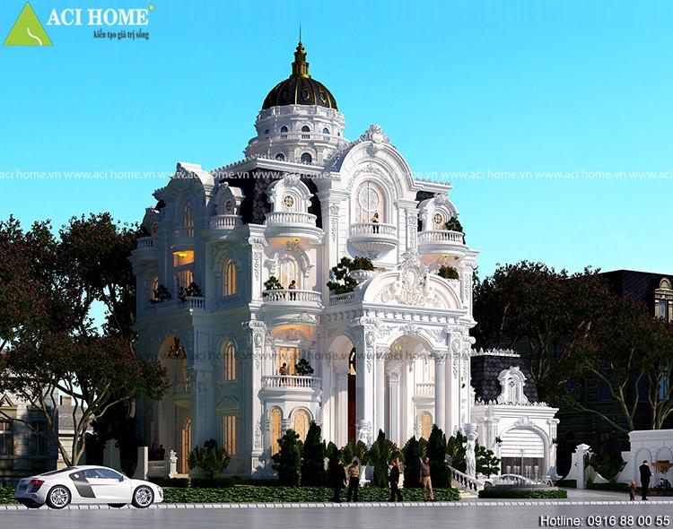 Thiết kế biệt thự kiểu Pháp tại Sóc Trăng - Ảnh 4