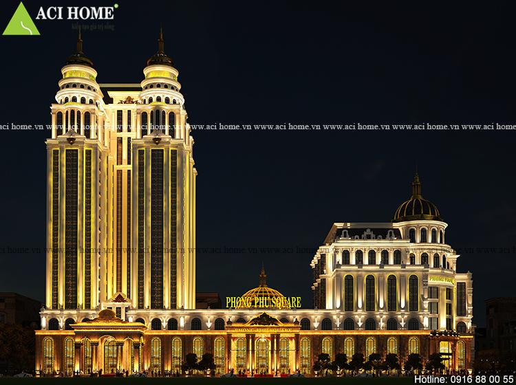 Thiết kế khách sạn và trung tâm thương mại kiểu Pháp 5 sao tại Tp Móng Cái