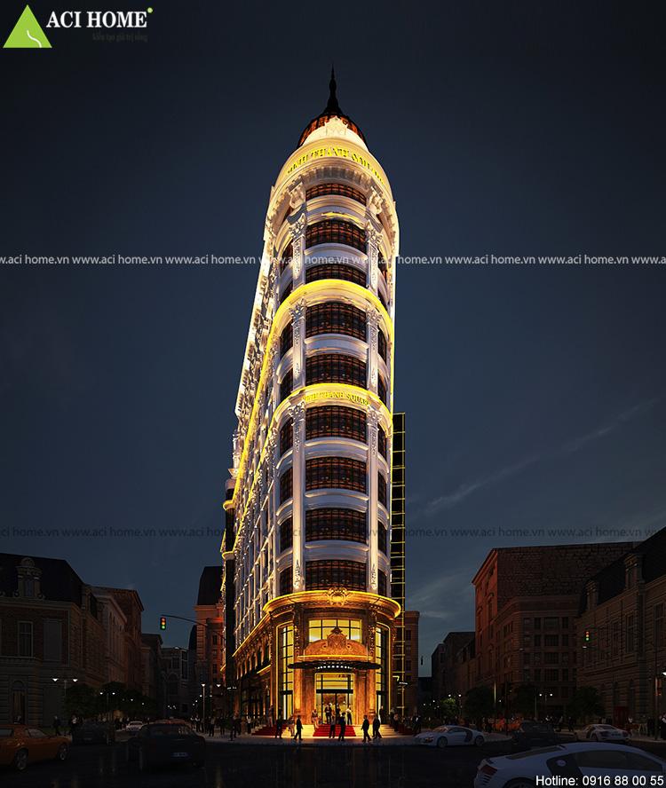 Thiết kế khách sạn và trung tâm thương mại tại Đà Nẵng - 1500 m2 x11,5 tầng