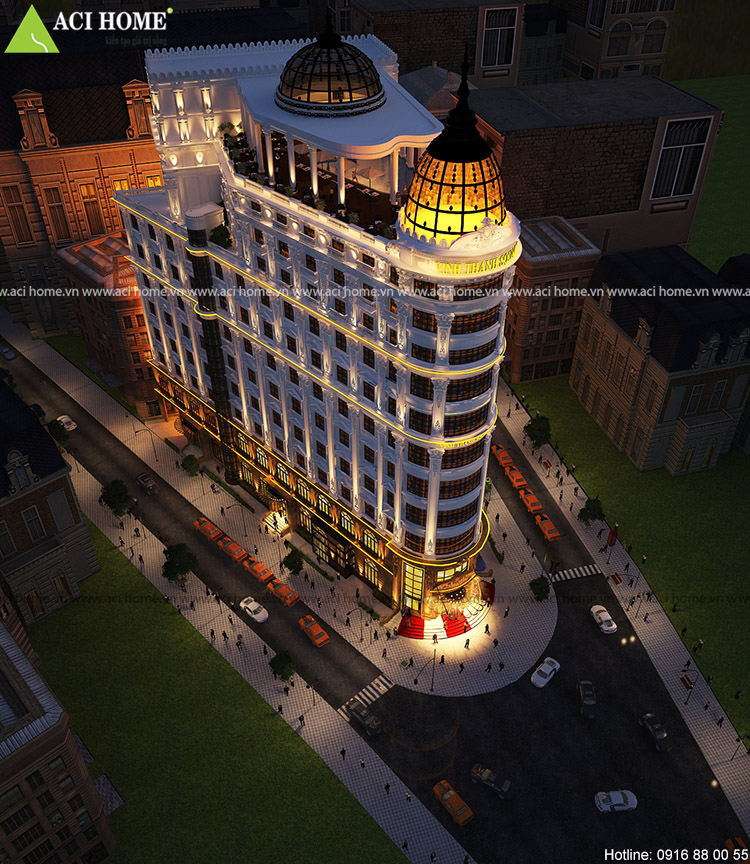 Thiết kế khách sạn kiểu Pháp - Vinh Thanh Square đẳng cấp 4 sao tại Đà Nẵng