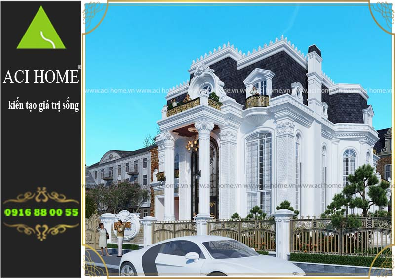 thiết kế và tư vấn biệt thự cổ điển 3 tầng tại Hạ Long