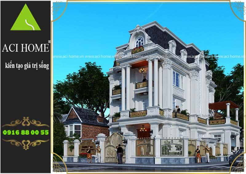 Thiết kế biệt thự cổ điển tại Lâm Đồng