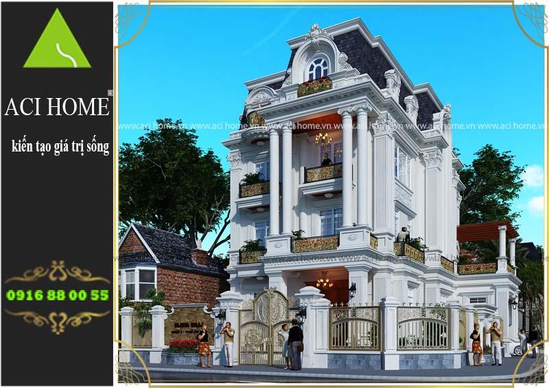 tư vấn biệt thự cổ điển 3 tầng tại Lâm Đồng
