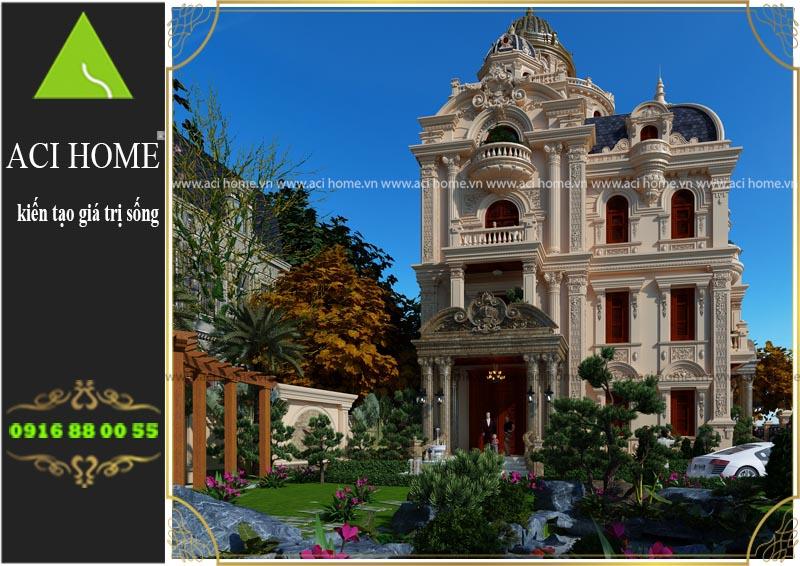 Tư vấn thiết kế biệt thự cổ điển tại Nam Định - 4 tầng 1 tum sang trọng và bề thế - Ảnh 4