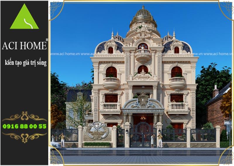 Tư vấn thiết kế biệt thự cổ điển tại Nam Định - 4 tầng 1 tum sang trọng và bề thế - Ảnh 7