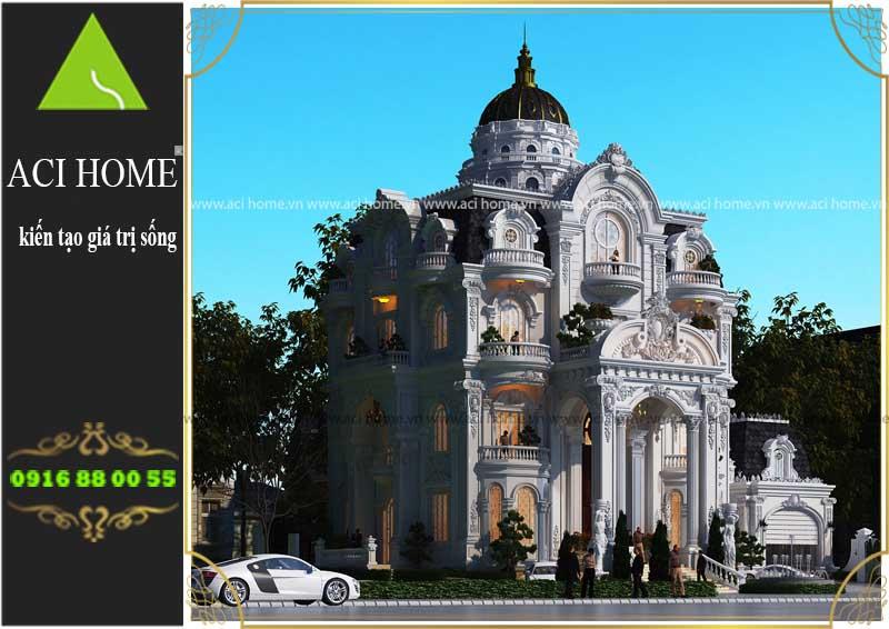 thiết kế biệt thự cổ điển tại Sóc Trăng