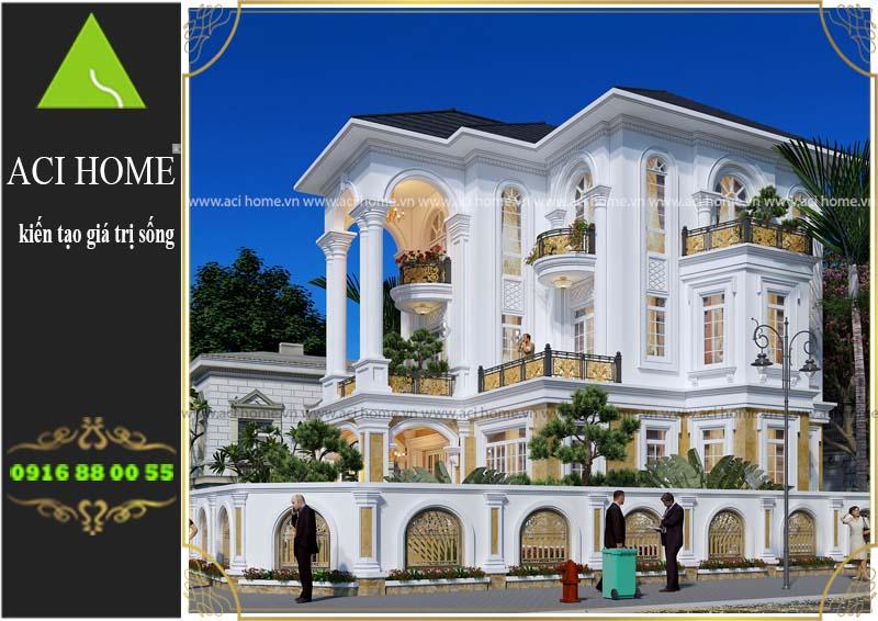 thiết kế biệt thự tân cổ điển tại Lạng Sơn - Tư vấn dt sàn 120 m2