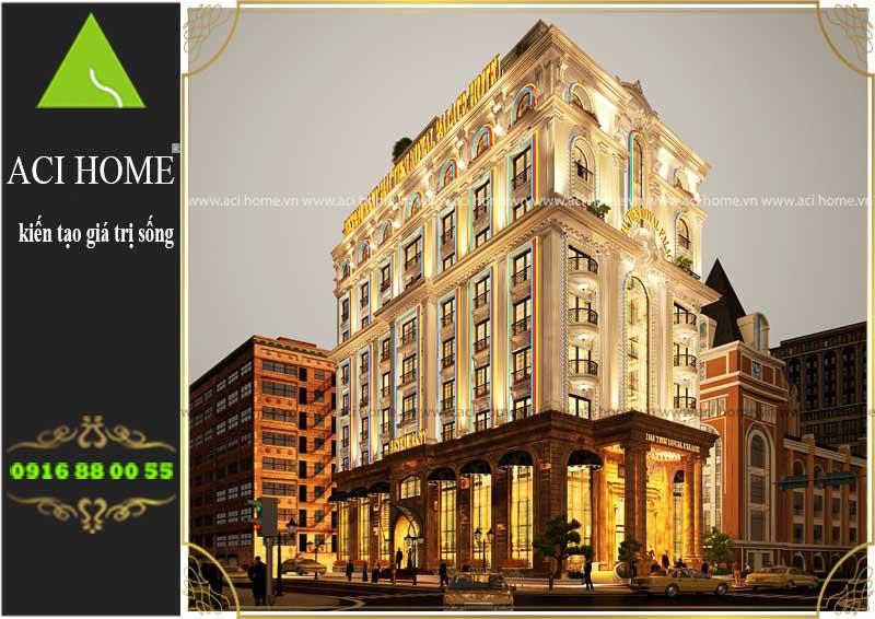 Tư vấn thiết kế khách sạn cổ điển 3 sao sang trọng trên lô đất 800 m2,xây 9 tầng-2 mặt tiền tại biển Hải Tiến - Hoằng Hóa-Thanh Hóa - Ảnh 1