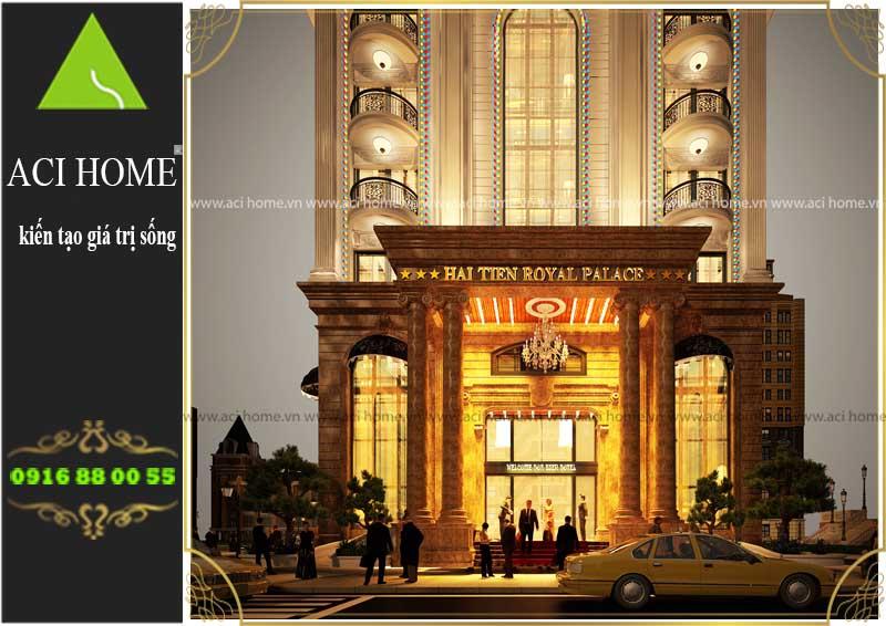 Thiết kế và tư vấn khách sạn cổ điển 3 sao tại Hoằng Hóa