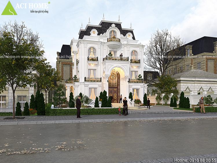 Thiết kế biệt thự kiểu Pháp ấn tượng tại Sơn La