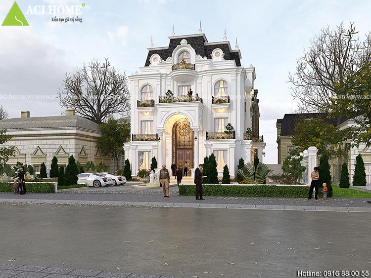 Tuyệt vời biệt thự kiểu Pháp 3,5 tầng tại Sơn La