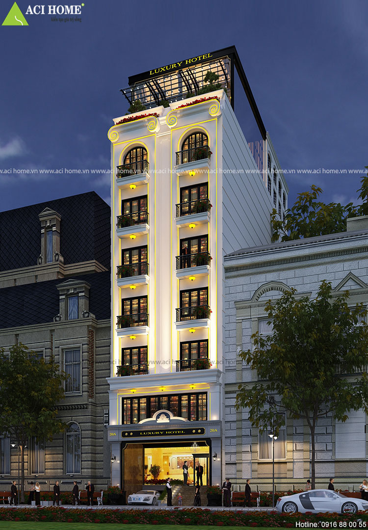 Thiết kế khách sạn kiểu Pháp tại Q1-Sài Gòn
