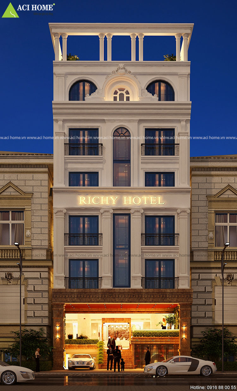 Thiết kế khách sạn kiểu Pháp 3 sao tại Tp Pleiku