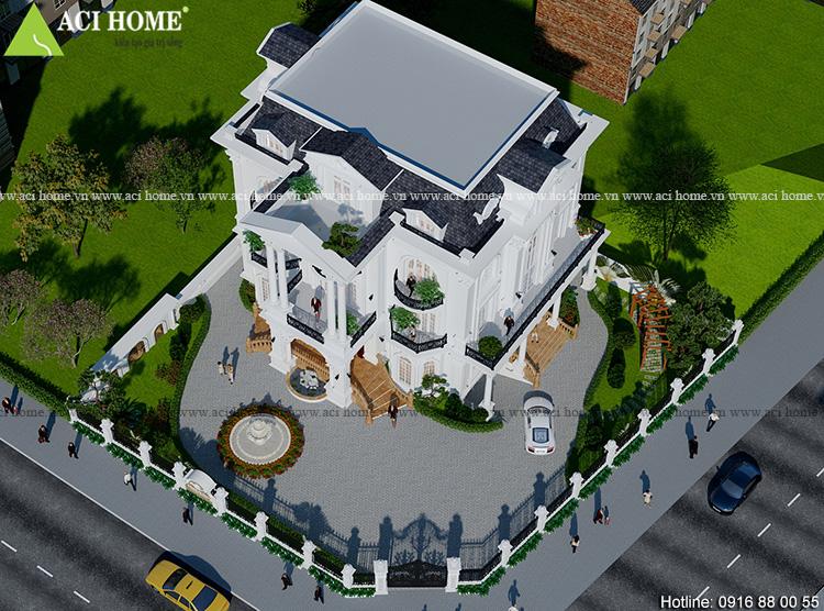 Cải tạo biệt thự kiểu Pháp tại Vinhomes Green Bay - 3,5 tầng