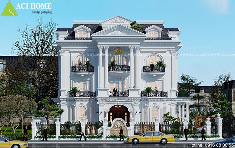 Thiết kế biệt thự kiểu Pháp trong khu đô thị sầm uất tại Đồng Nai