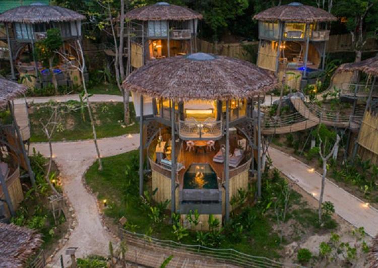 Resort được sử dụng vật liệu tự nhiên tạo ấn tượng với du khách