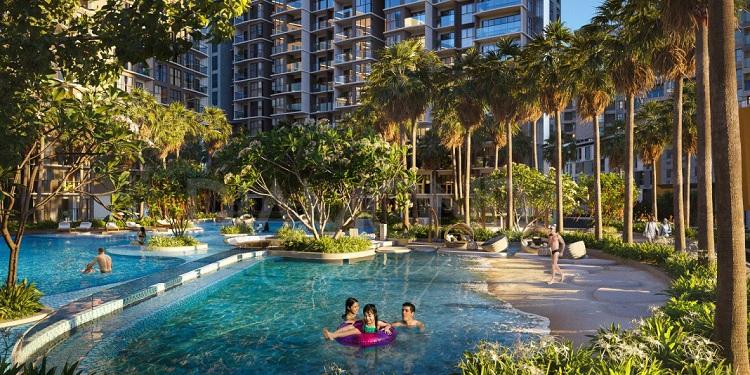 Địa hình hình học trong kiến trúc Resort
