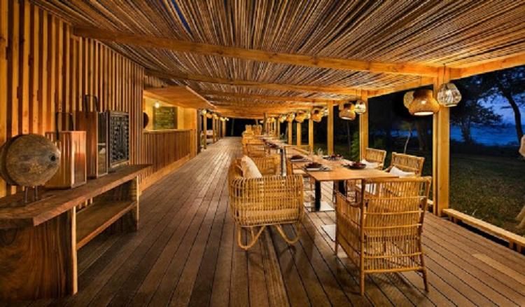 Nguyên vật liệu thiên nhiên được sử dụng trang tri Resort
