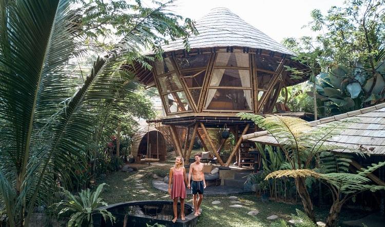 Thiết kế sáng tạo từ nguyên liệu tre tại Resort - Hideout Beehive A Bamboo-