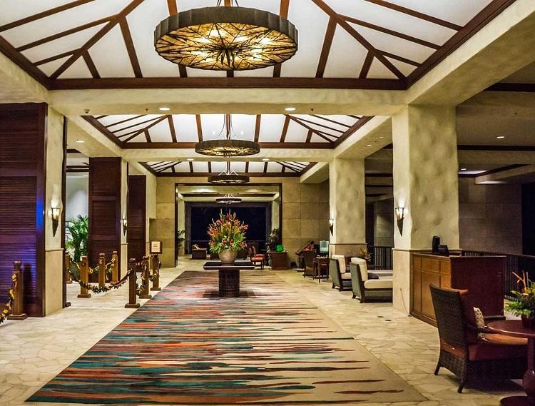 Thiết kế tiền sảnh tại Resort với không gian sang trọng