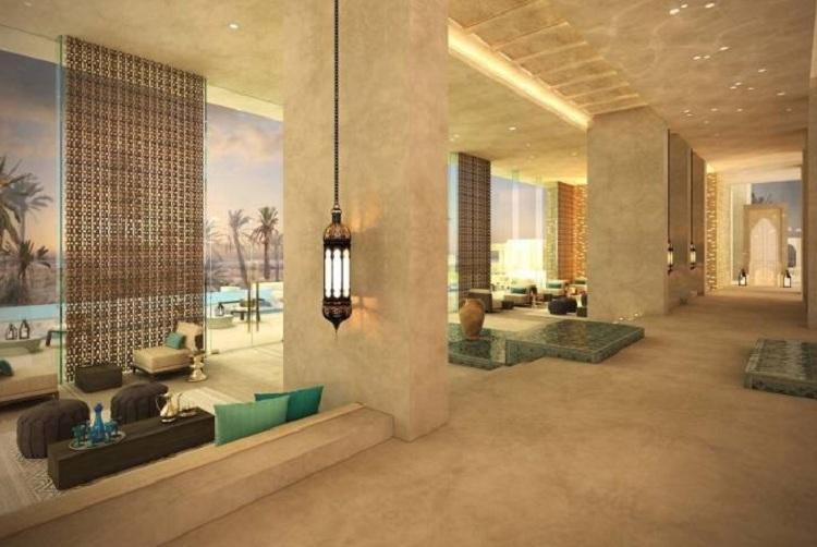 Tone màu hài hòa đẹp mắt khi trang trí sảnh Resort